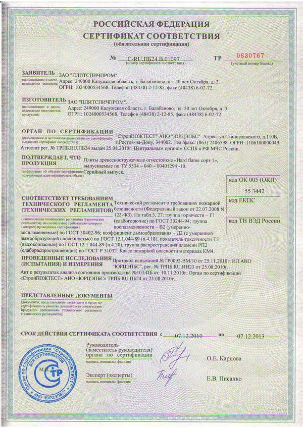 Пожарный сертификат - обязательный